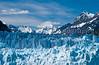 The toe of the tidewater Margerie Glacier in Glacier Bay National Park, Alaska, USA.