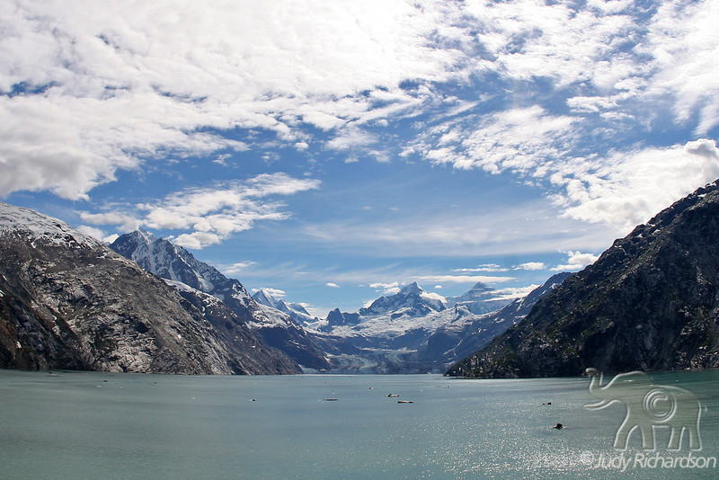 St. John Glacier using a fisheye lens