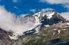 Glacier Bay and its snow covered peaks, Glacier Bay, Alaska, USA, America.