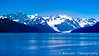 The Eastern side of the Fairweather Mountain range from Glacier Bay, Alaska, USA.