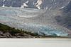 Glacial crevices in large glacier in Glacier Bay