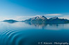 Sailing into the calm waters of Glacier Bay, Alaska, USA.