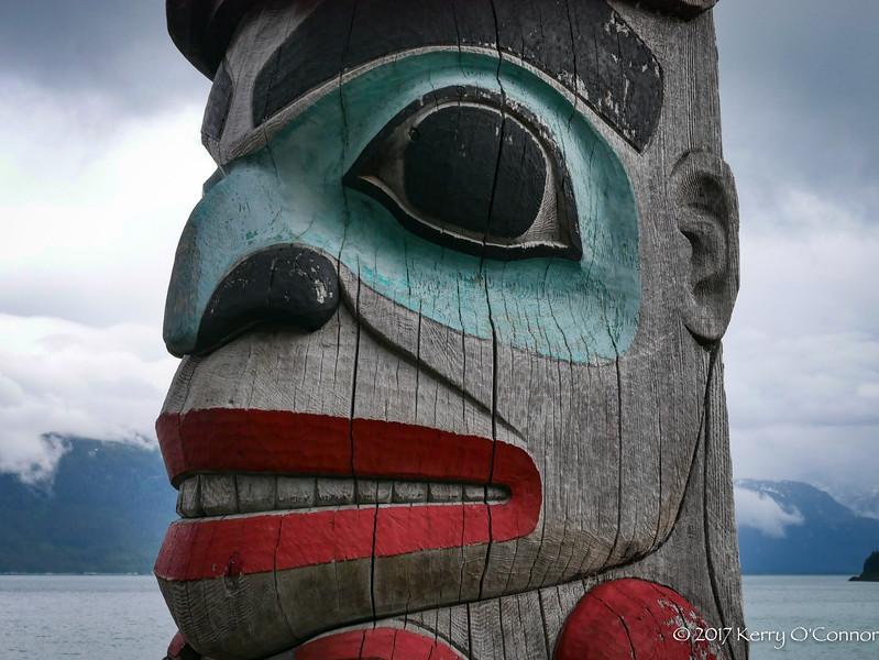 Totem in Haines Harbor