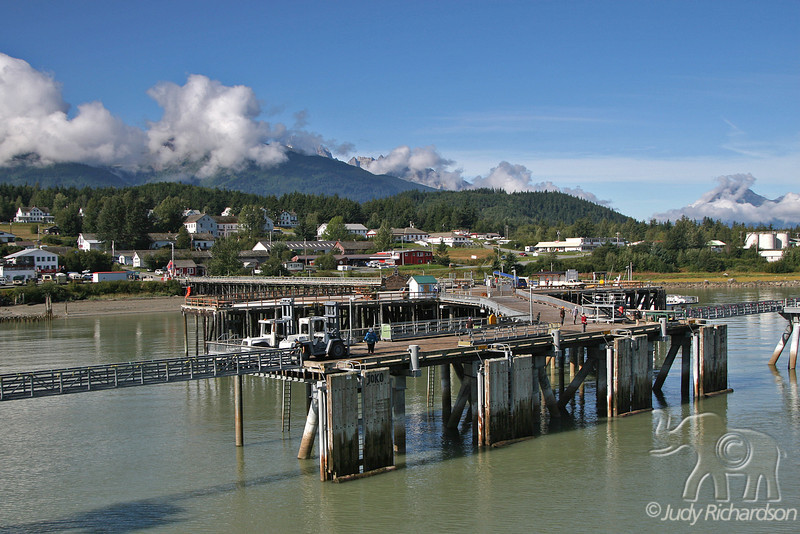 Haines Dock as we arrive early in the morning