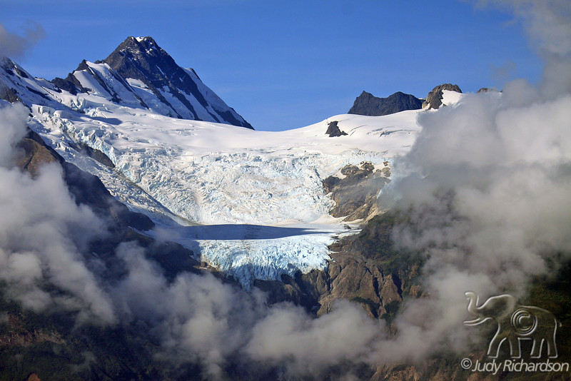 Spectacular Glacier out of Clouds