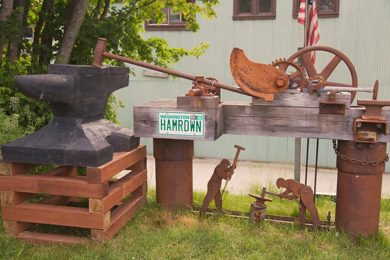 Sculpture at the Hammer Museum, Haines, Alaska