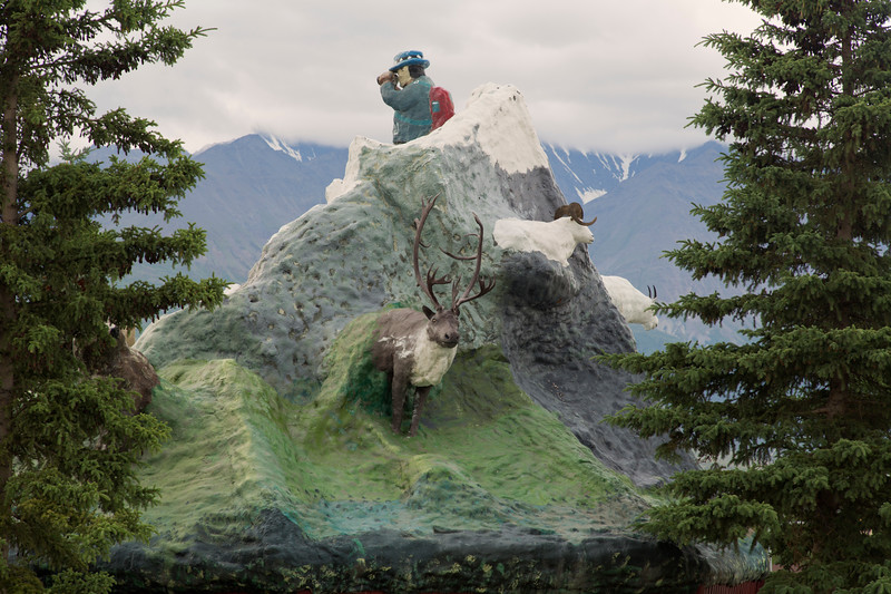 Sculpture, Haines Junction, Y.T., Canada