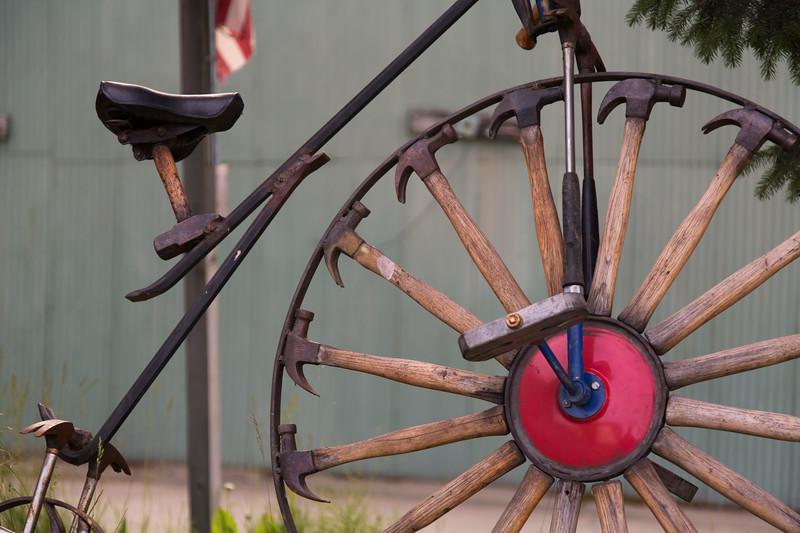 Bike Sculpture at the Hammer Museum, Haines, Alaska