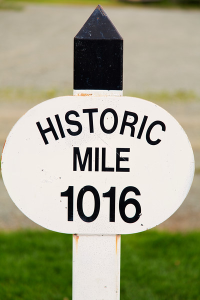 Historic Mile Marker, Haines Junction, Y.T., Canada