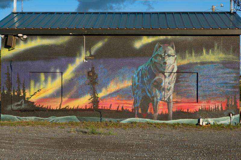 Wall Mural, Whitehorse, Yukon, Canada