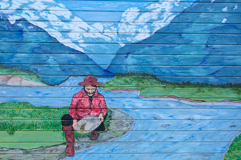 Wall Mural, Skagway, Alaska