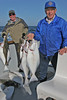 Alan & Dell with halibut catches