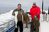 Alan & Jeff with halibut catch off Homer in June 2011.