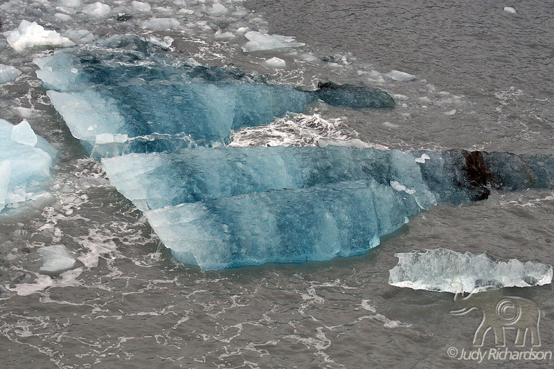 Striated glacial Ice from calving