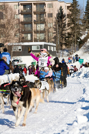 The Ceremonial Start of the 2009 Iditarod in Anchorage, Alaska.<br /> March 7, 2009