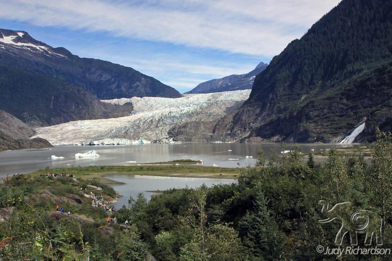 Mendenhall Glacier, Lake, & Waterfall