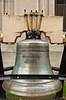 A Liberty Bell replica at the Juneau state Capitol Building, Alaska, USA, America.