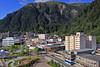 Juneau town from Mt. Robert's Tram on a beautiful, sunny, warm day at end of August
