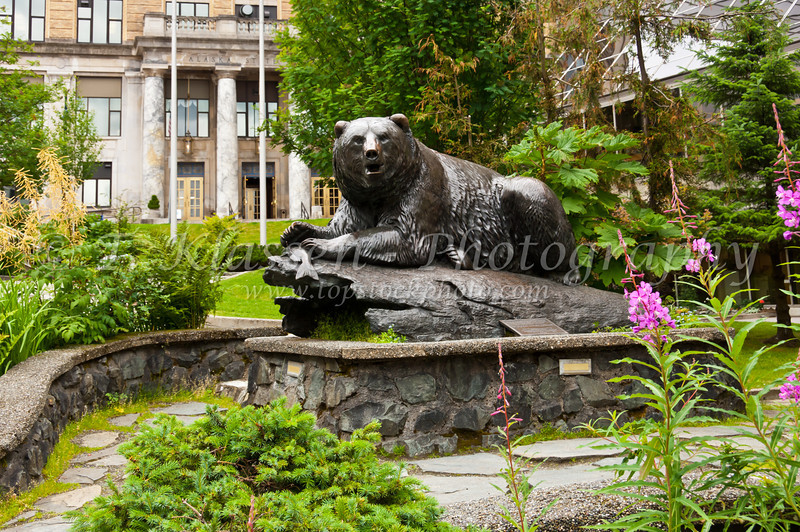The Game and Fish park in Juneau, Alaska, USA, America.
