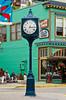 A clock on the street of Juneau, Alaska, USA, America.