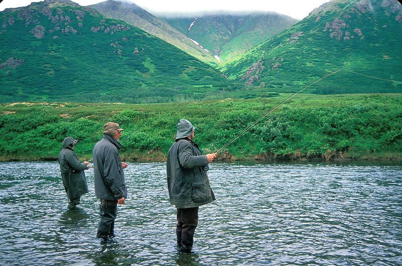 AKS95-027a Kanektok fishing