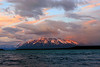 Midnight sun on Mount Katolinat from our camp on Naknek Lake.