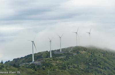 Wind turbines over Kodiak