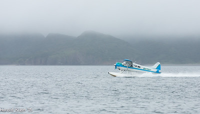 Its still raining...water spinning off the prop...
