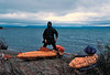 Our first break after a few hours of steady paddling into the wind up the NW shore of Naknek Lake.