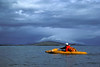 Kayaking across the Iliuk Arm of Naknek Lake.