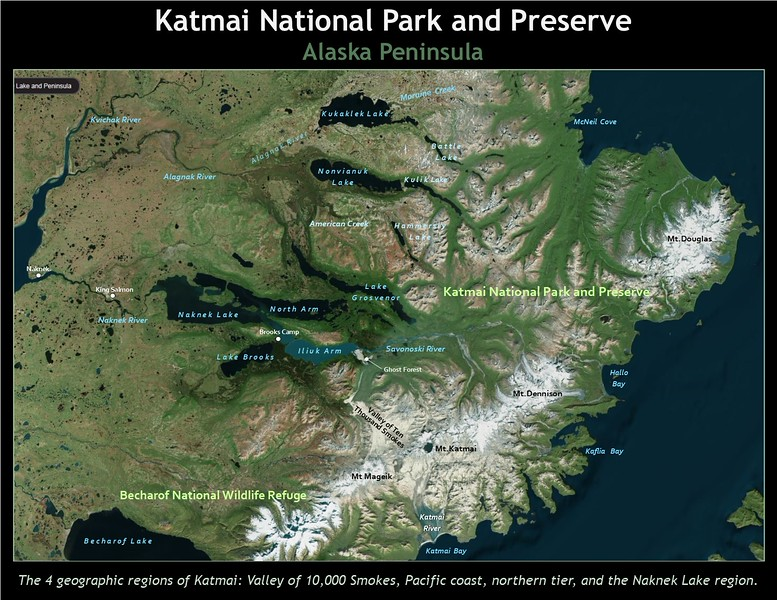 Aerial view of Katmai National Park.