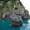 Kenai Fjords is filled with all sorts of interesting rock formations.