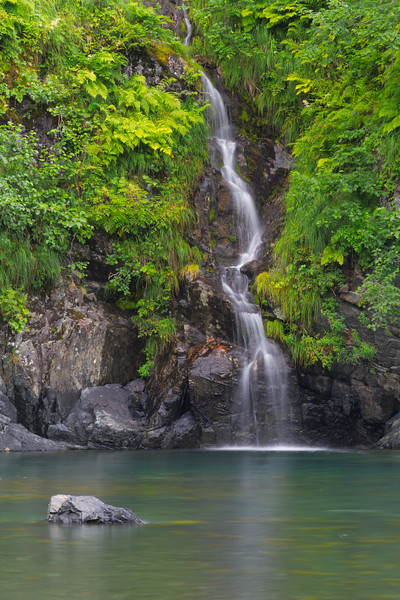 Waterfall in Aialik Bay, Kenai Fjords National Park, Alaska