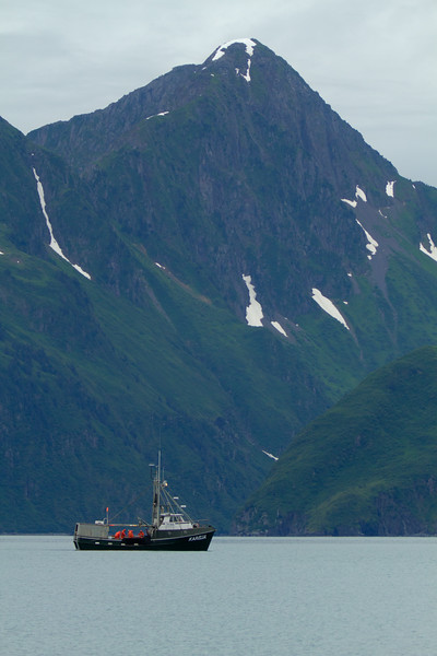 Fishing boat on Aialik Bay, Kenai Fjords National Park, Alaska