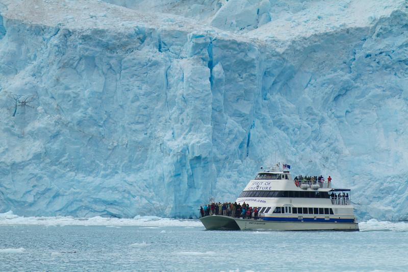 Tour Boat at Aialik Glacier, Aialik Bay, Kenai Fjords National Park, Alaska