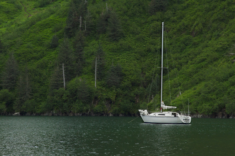 Sailboat in Aialik Bay, Kenai Fjords National Park, Alaska