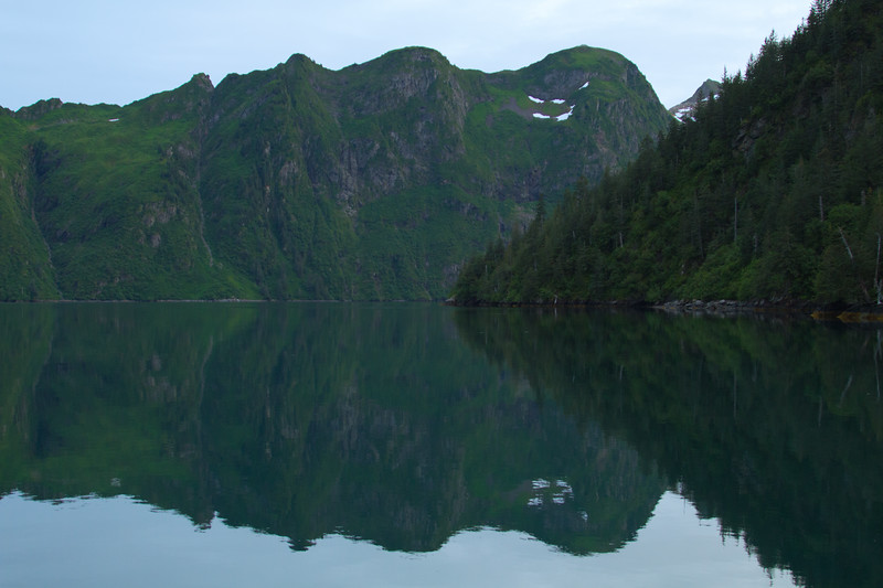 Mountain reflection, Aialik Bay, Kenai Fjords National Park, Alaska