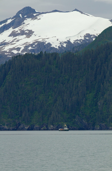 Fishing boat onAialik Bay, Kenai Fjords National Park, Alaska