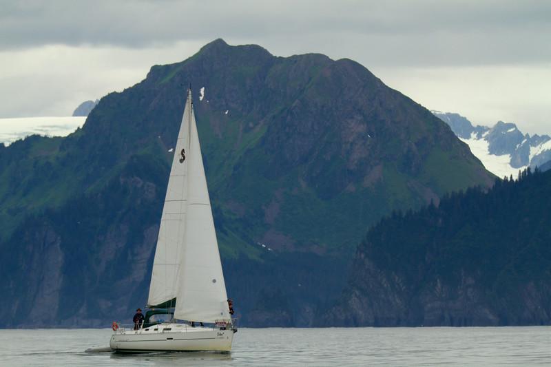 Sailboat on Resurrection Bay, Seward, Alaska