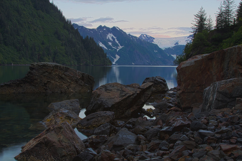 HDR photo in Aialik Bay, Kenai Fjords National Park, Alaska