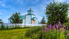 The Transfiguration of Our Lord Russian Orthodox Church in Ninilchik, Alaska, USA.