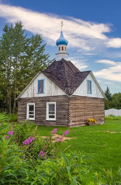 The Saint Nicholas Memorial Chapel In Old Town Kenai, Alaska, USA.