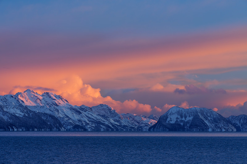Sunset on Resurrection Bay, Seward, Alaska