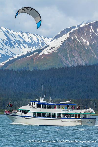 Kiteboarding, Seward, Alaska