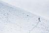 Climber on the slopes of Mt. Eva.