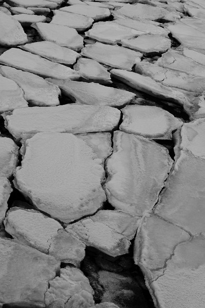 Ice Patterns, Seward Boat Harbor, Seward, Alaska