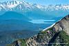 View of Kenai Lake from Mt. Eva