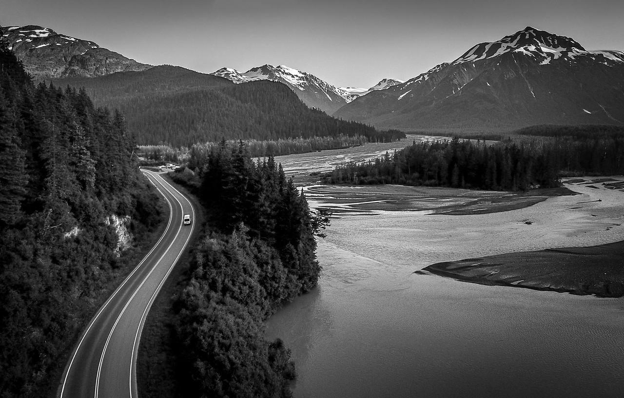 Alaska Road to Exit Glacier