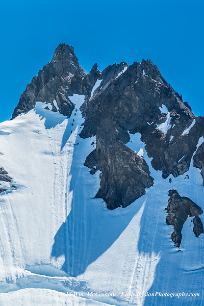 Mountaineering team ascending Mt. Eva