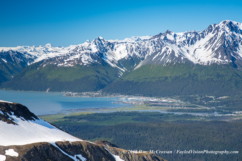 Seward, Alaska as seen from Mt. Eva